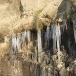 Icicles on Hobbit Beach