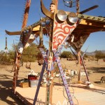 Sculpture garden in Slab City