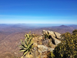 The pico of Picacho looking towards theBahia de California or Sea of Cortez.