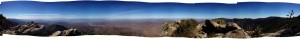Panorama from the poit of Picacho.