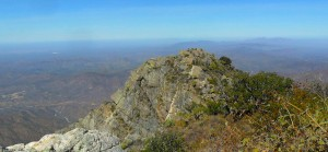 The pico of El Picacho in the SIerra de la Laguna.
