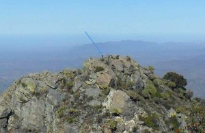 The blue arrow points to me on El Picacho.