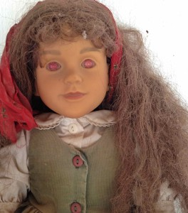 No getting that thing through this hair. Voodoo doll of me found at Nancy's.
