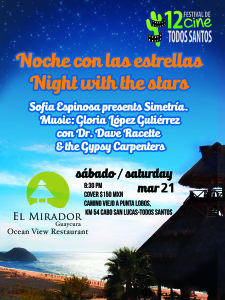 Vamos a tocar sabado en El Mirador. We are playing Saturday at El Mirador.