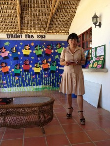 Ivonne, my teacher and head mistress of this school.