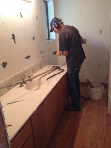 SawzAlling loose the tile back splash.