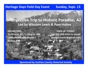 Interpretive history trip to Paradise, Arizona