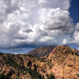 Thunderstorm moving in the Chiricahua Mountains