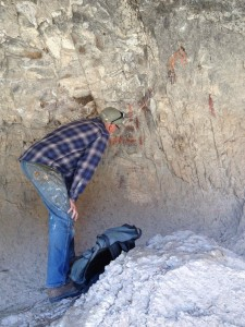 Burt interprets the rock art
