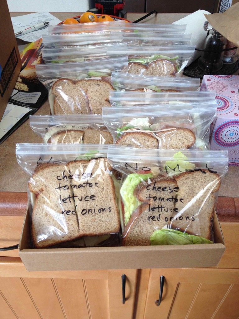 A helpful community member made us sandwiches.