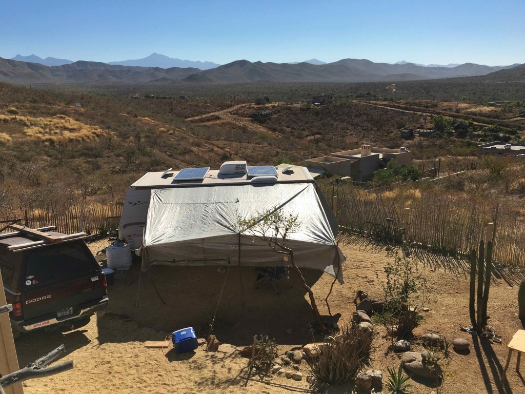 This tarp's grommets blew out. We went to Cabo the same day and bought new tarps and beds.