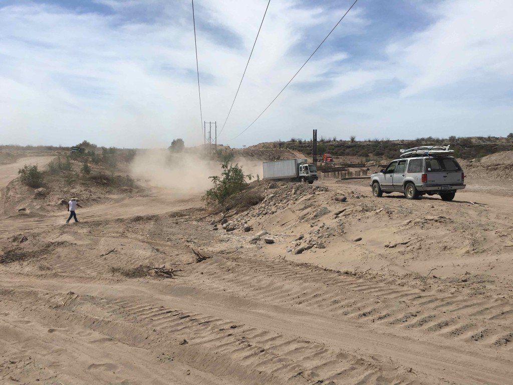 Road construction on Baja.