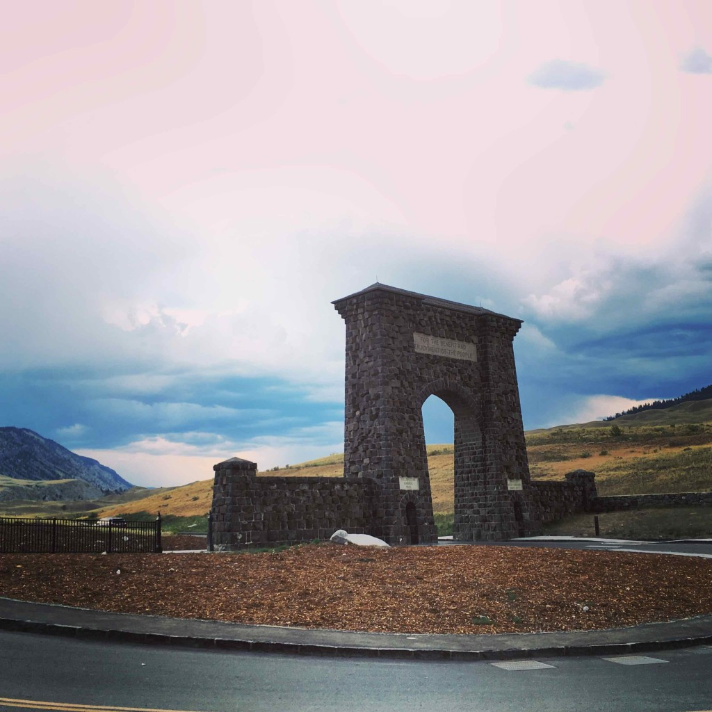 The Roosevelt Arch. First entrance to the world's first national park.