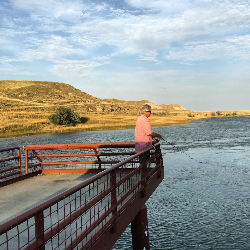 Fishing at Fresno Dam