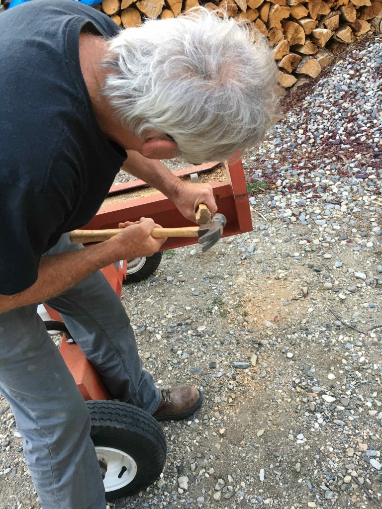 Cleaning the log splitter