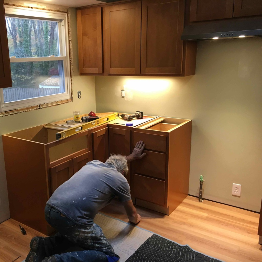 Kitchen cabinets and floor