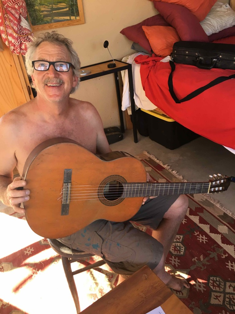 Burt repaired my mom's guitar.
