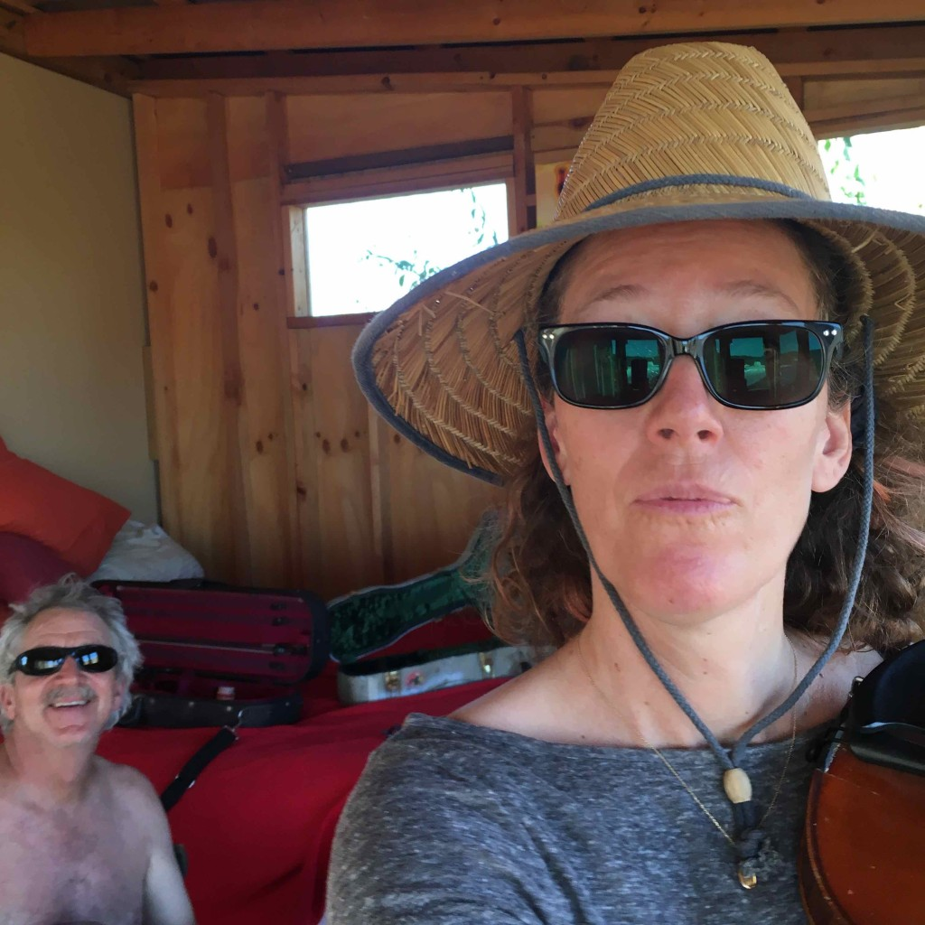 Gypsy Carpenters at practice. Will I ever manage this fiddle?