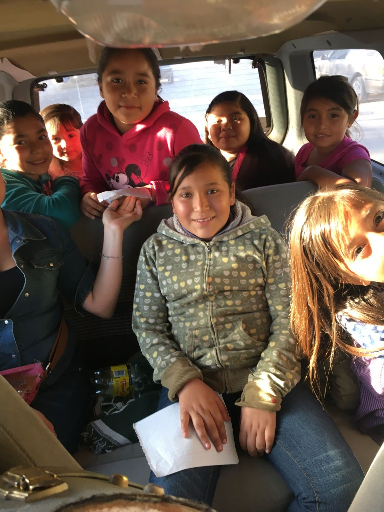Bus to English and music class