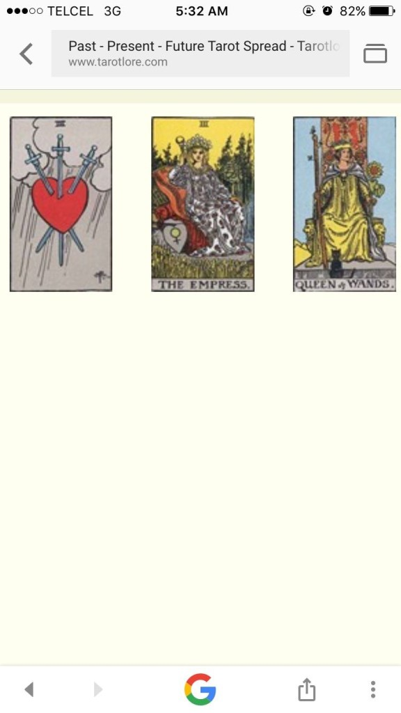 My three cards