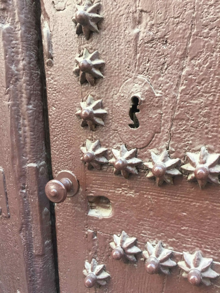 Door detail. Love the star shaped nails.
