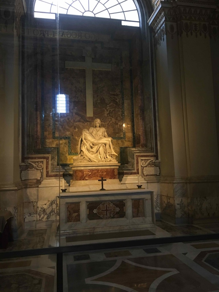 The pieta. Michelangelo in Saint Peter's basilica.