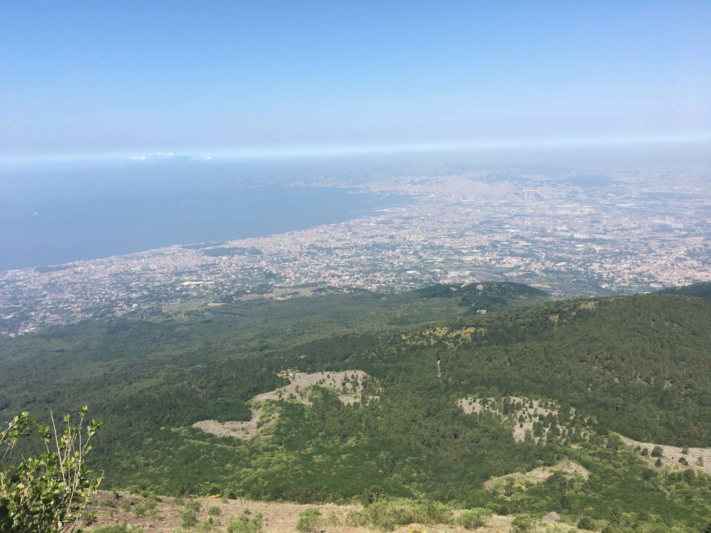 Naples or Napoli from Vesuvius.