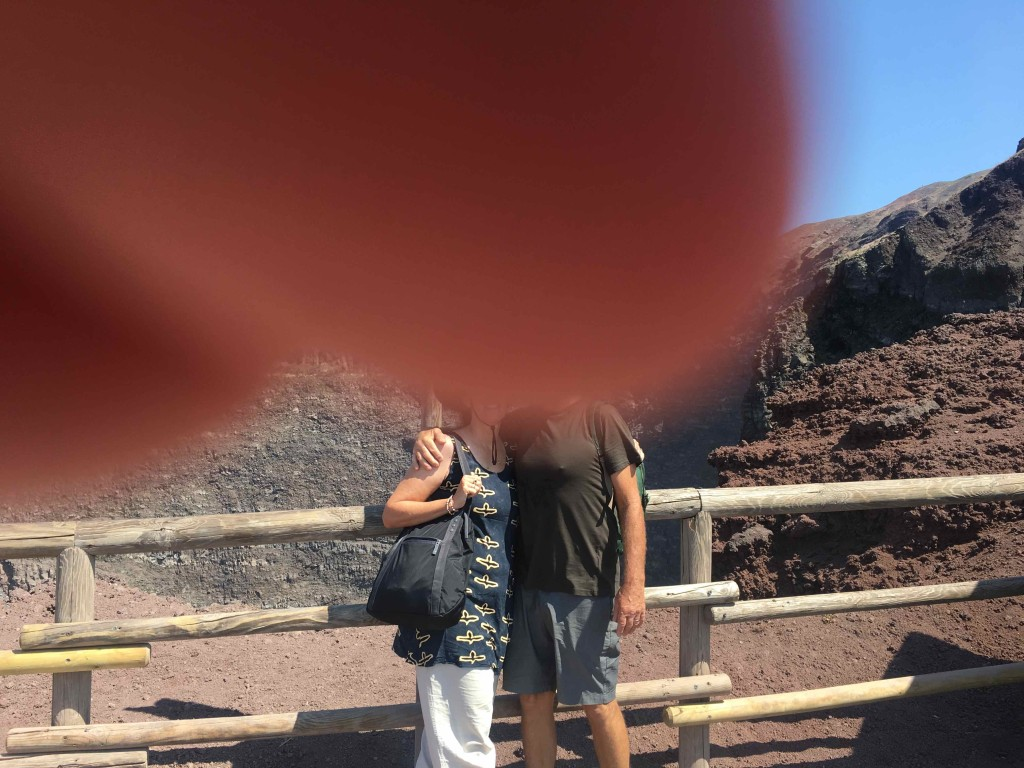 Matt captures our thumb-heads at Vesuvius.