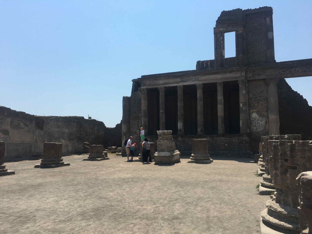 Plaza in Pompeii
