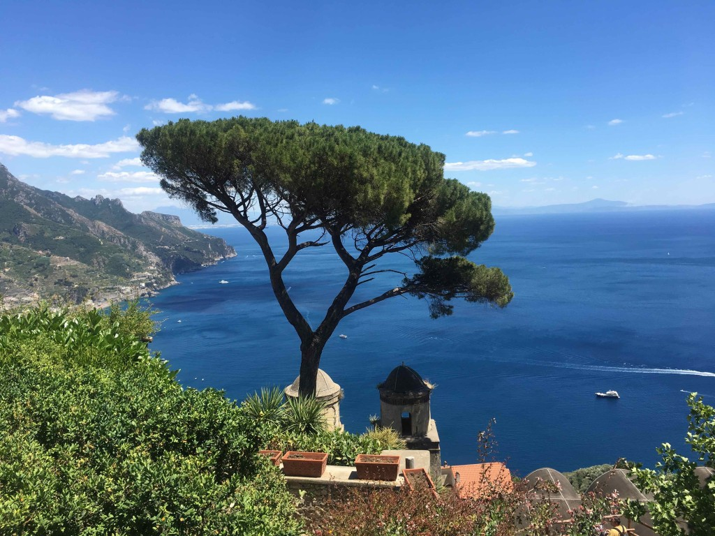 Search Ravello and this is the scene they show. Villa Rufolo.
