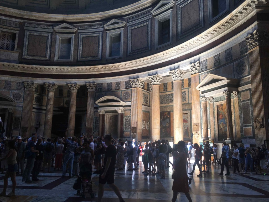 Pantheon. Different time of day, different place.