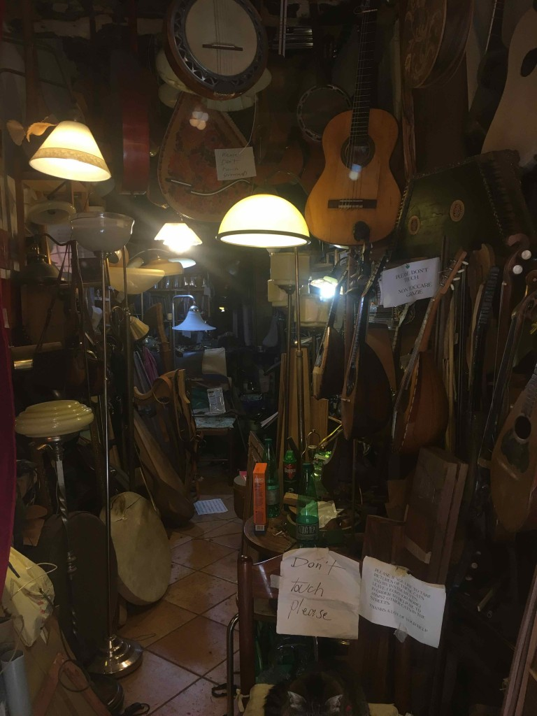 A closed instrument shop.
