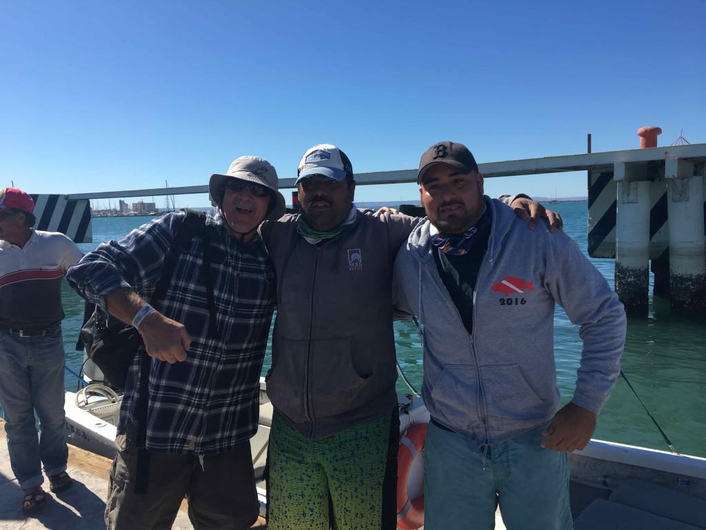 Our guides Neza and Zorro with Burt. We saw many many many whale sharks.