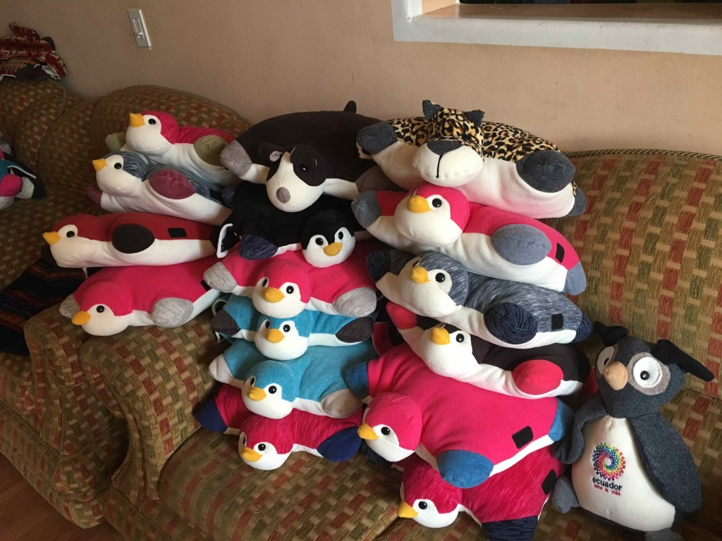 Penguin pillows