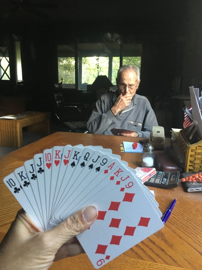 Pinochle with Jack.