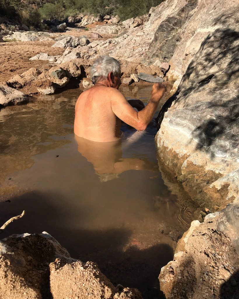 Dude in a hot spring