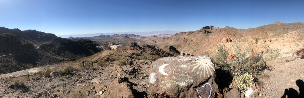 Pass above Oatman, AZ. Lots of cars off the edge.