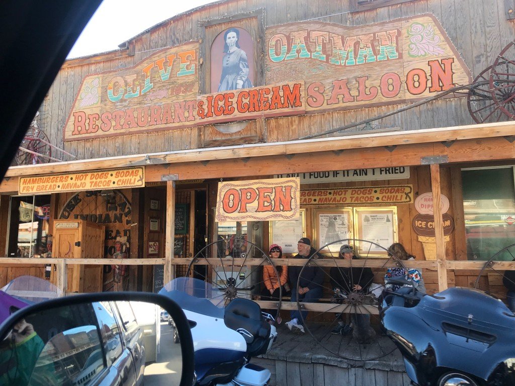Drive-by Oatman shot.