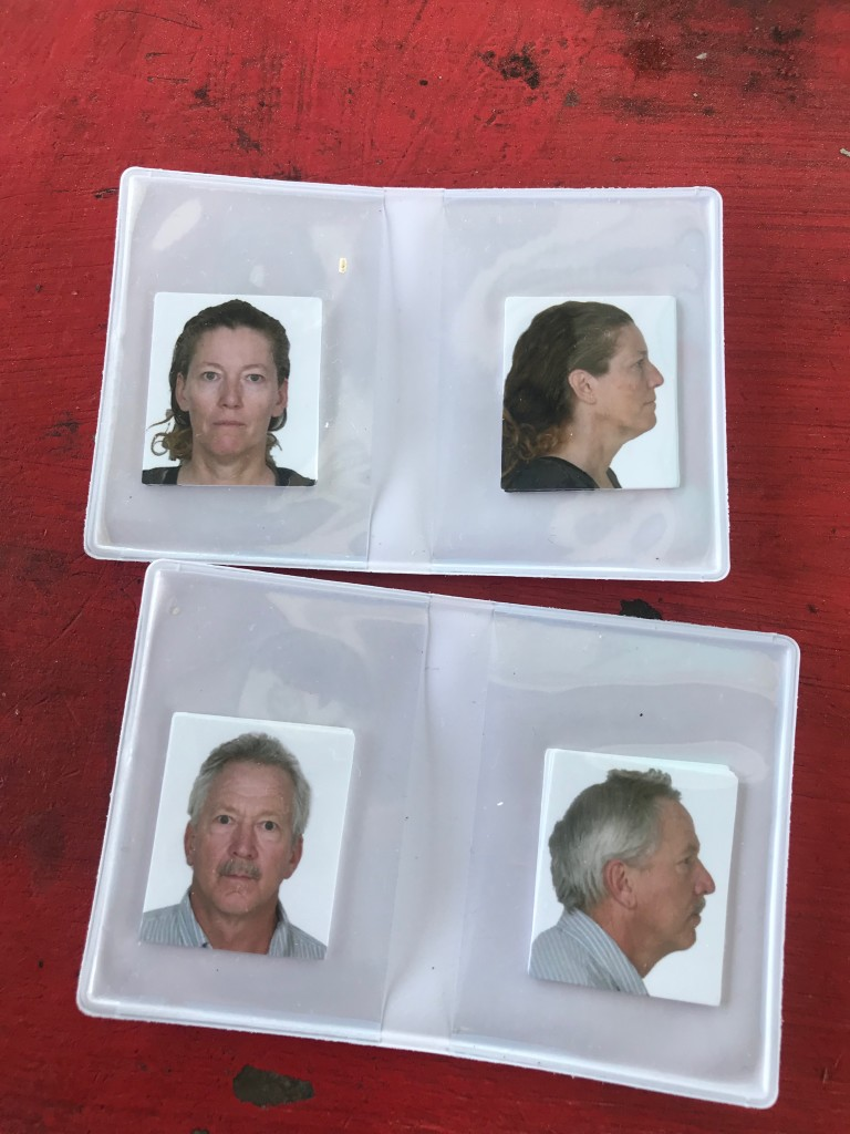 Official ID photos. They want to know what you look like dead.