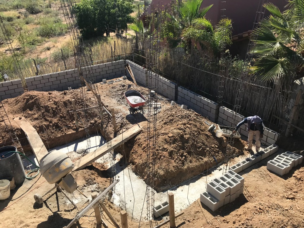 Footer and start of foundation wall.