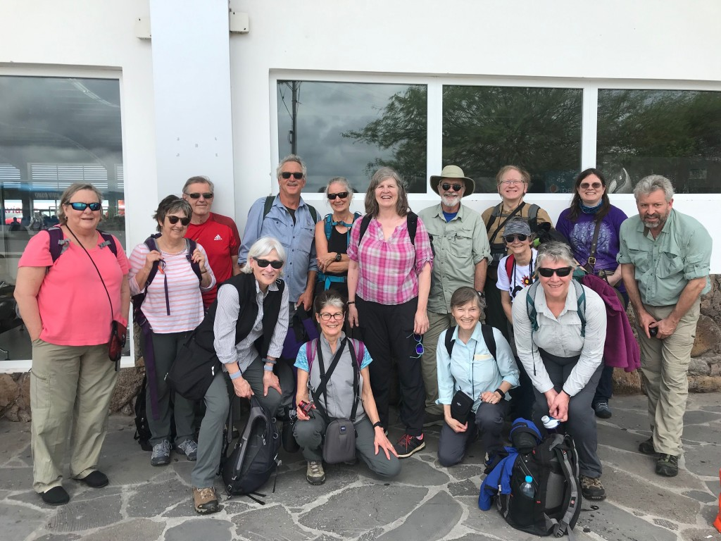 Group at the Airport in Galápagos