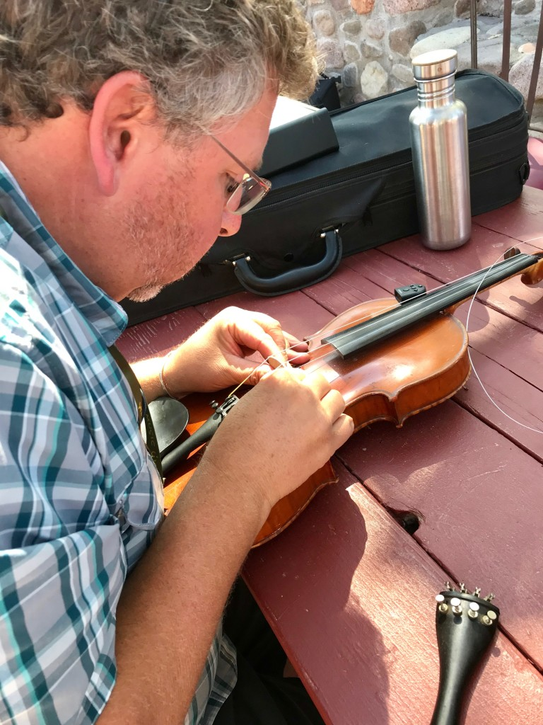 Fiddle repair by Michael.